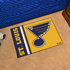 "St Louis Blues Uniform Starter Rug 19""x30"""