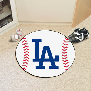 "MLB - Los Angeles Dodgers 'LA' Baseball Mat 27"" diameter"
