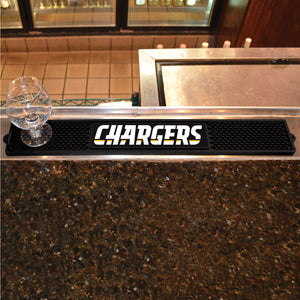 "NFL - Los Angeles Chargers Drink Mat 3.25""x24"""