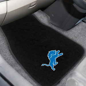 "NFL - Detroit Lions 2-pc Embroidered Car Mats 18""x27"""