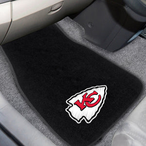 "NFL - Kansas City Chiefs 2-pc Embroidered Car Mats 18""x27"""