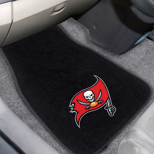 NFL - Tampa Bay Buccaneers 2-pc Embroidered Car Mats 18