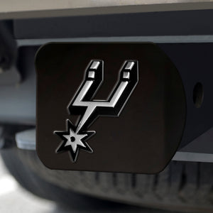"NBA - San Antonio Spurs Black Hitch Cover 4 1/2""x3 3/8"""