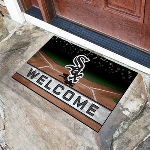 "MLB - Chicago White Sox 18""x30"" Crumb RubberDoor Mat"