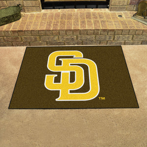 "MLB - San Diego Padres Brown/Yellow All-Star Mat 33.75""x42.5"""