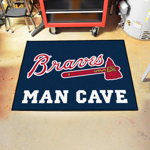 "MLB - Atlanta Braves Man Cave All-Star Mat 33.75""x42.5"""