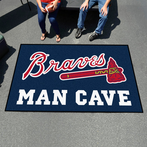 MLB - Atlanta Braves Man Cave UltiMat 5'x8' Rug