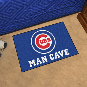 "MLB - Chicago Cubs Man Cave Starter Rug 19""x30"""