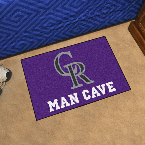 MLB - Colorado Rockies Man Cave Starter Rug 19
