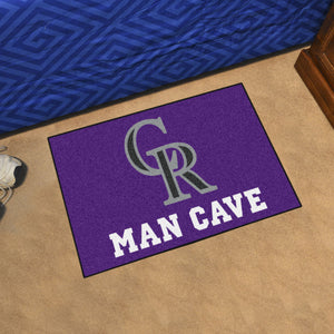 "MLB - Colorado Rockies Man Cave Starter Rug 19""x30"""