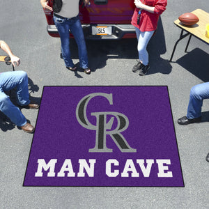 MLB - Colorado Rockies Man Cave Tailgater Rug 5'x6'