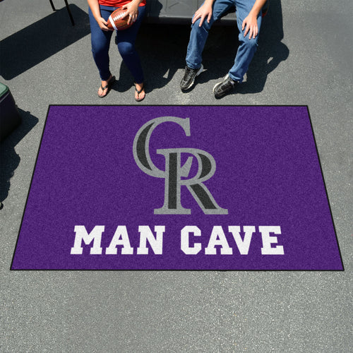 MLB - Colorado Rockies Man Cave UltiMat 5'x8' Rug