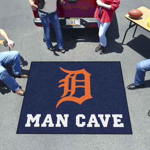 MLB - Detroit Tigers Man Cave Tailgater Rug 5'x6'