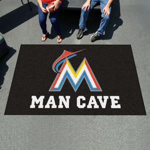 MLB - Miami Marlins Man Cave UltiMat 5'x8' Rug