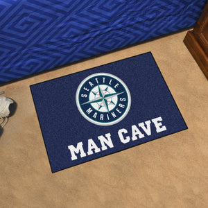 "MLB - Seattle Mariners Man Cave Starter Rug 19""x30"""