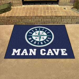 "MLB - Seattle Mariners Man Cave All-Star Mat 33.75""x42.5"""