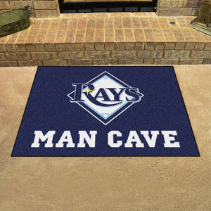 "MLB - Tampa Bay Rays Man Cave All-Star Mat 33.75""x42.5"""