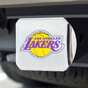 "NBA - Los Angeles Lakers Color Hitch Chrome 3.4""x4"""