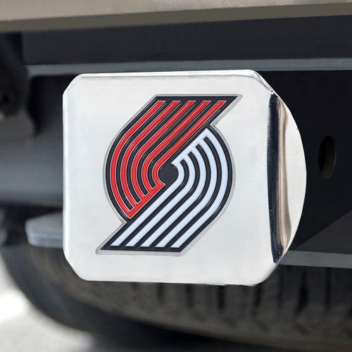 NBA - Portland Trail Blazers Color Hitch Chrome 3.4