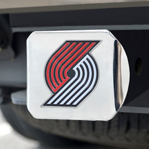 "NBA - Portland Trail Blazers Color Hitch Chrome 3.4""x4"""