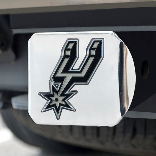 NBA - San Antonio Spurs Color Hitch Chrome 3.4
