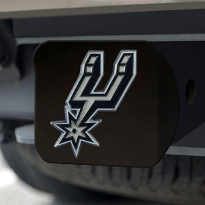 "NBA - San Antonio Spurs Color Hitch Black 3.4""x4"""