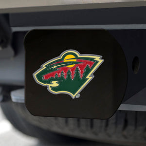 "NHL - Minnesota Wild Color Hitch Black 3.4""x4"""
