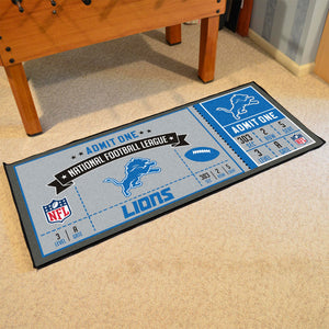 "NFL - Detroit Lions Ticket Runner 30""x72"""