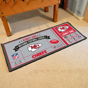 "NFL - Kansas City Chiefs Ticket Runner 30""x72"""