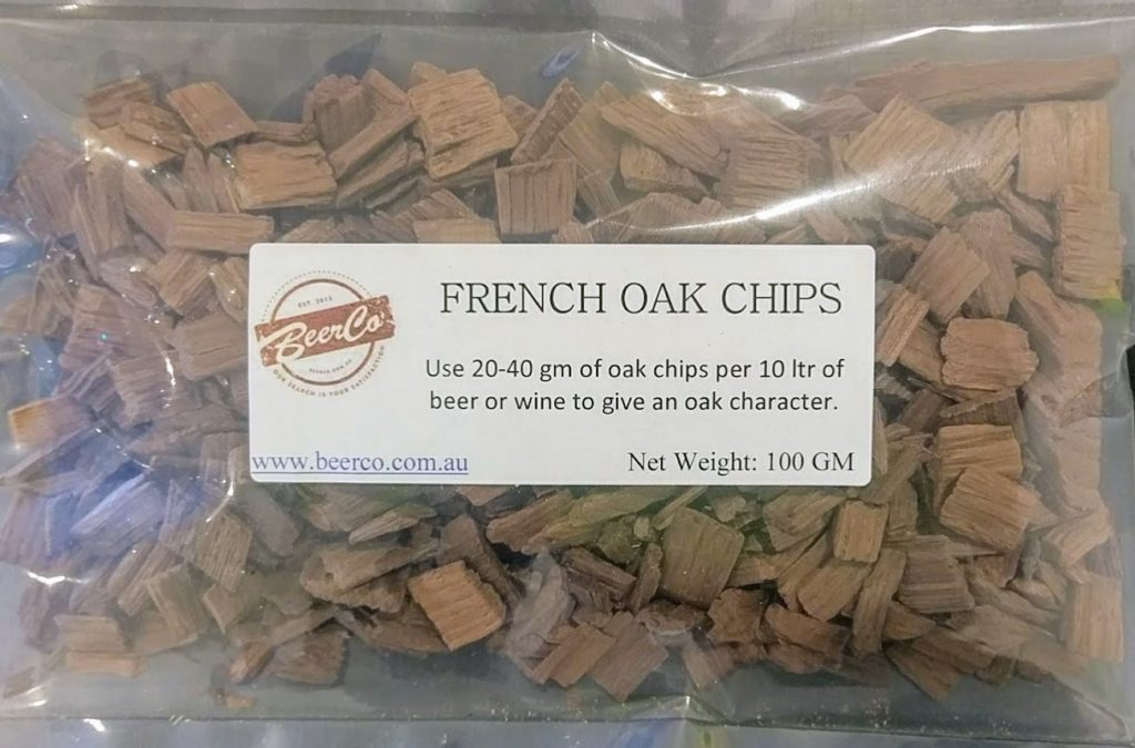 French Oak Chips Medium Toast 100 Gram 1kg Beerco