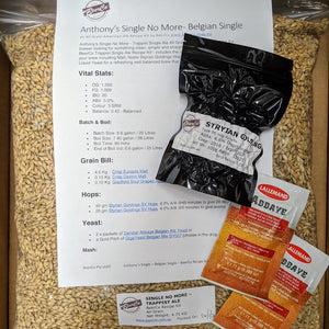 Anthony - Single Trappist Ale - BeerCo All Grain Recipe Kit