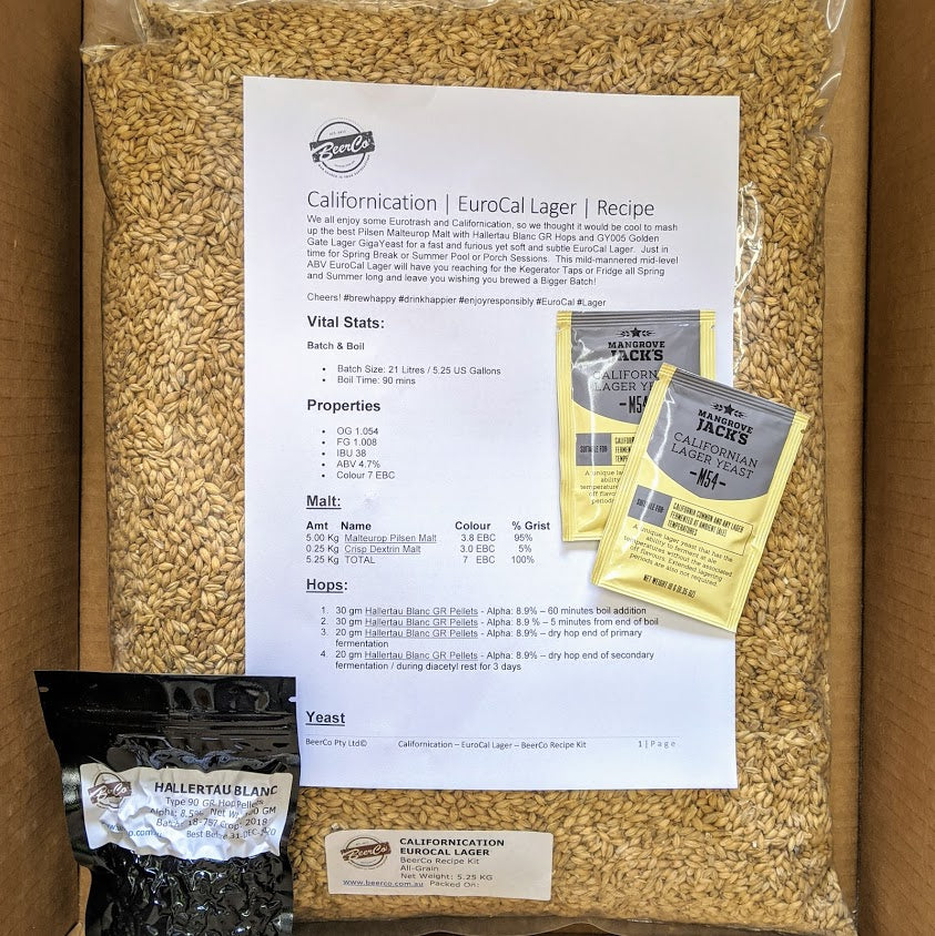 Californication - EuroCal Lager- BeerCo Recipe Kit