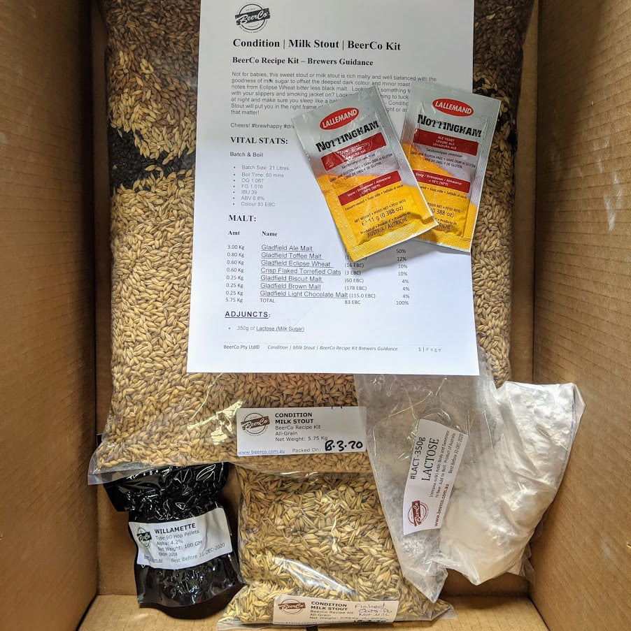 Condition - Milk Stout - BeerCo Recipe Kit