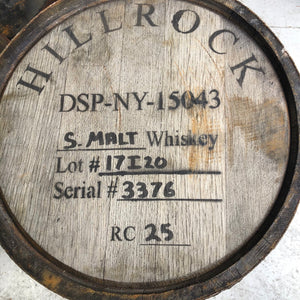 Whisky Barrels - 100L - ex Hillrock Estate Distillery Single Malt