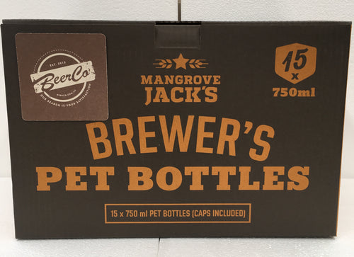 Mangrove Jack's Brewer's PET Bottles (15x 750ml)