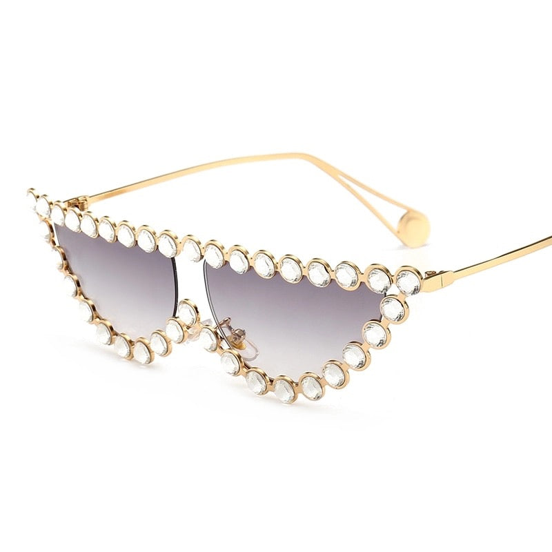 Rhinestone Cat Eye Glasses - 57THAND5TH