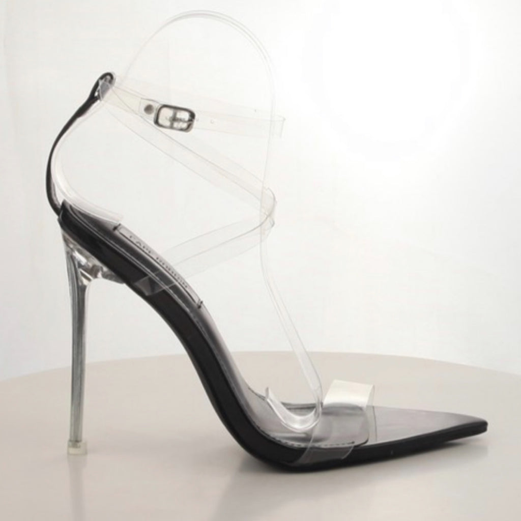 Rayvenn Clear Strap Heels - 57THAND5TH