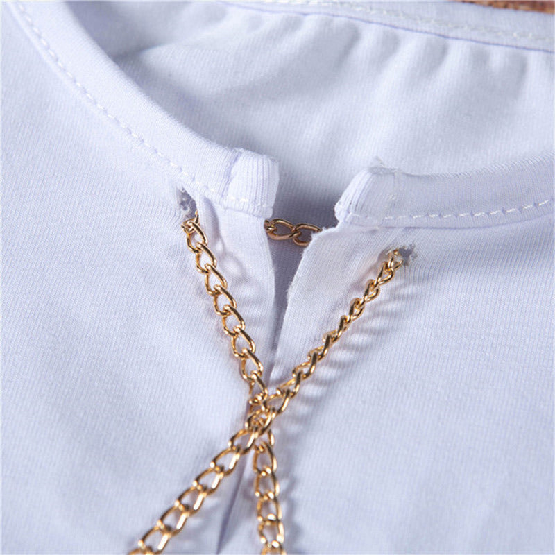 Chain Lace Up Tee