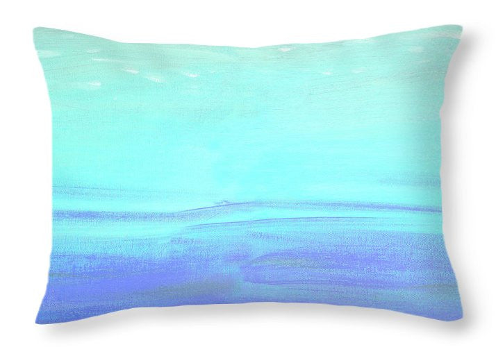 Aquatic Abstract Throw Pillow