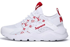 NIKE AIR HUARACHE X LOUIS VUITTON X SUPREME