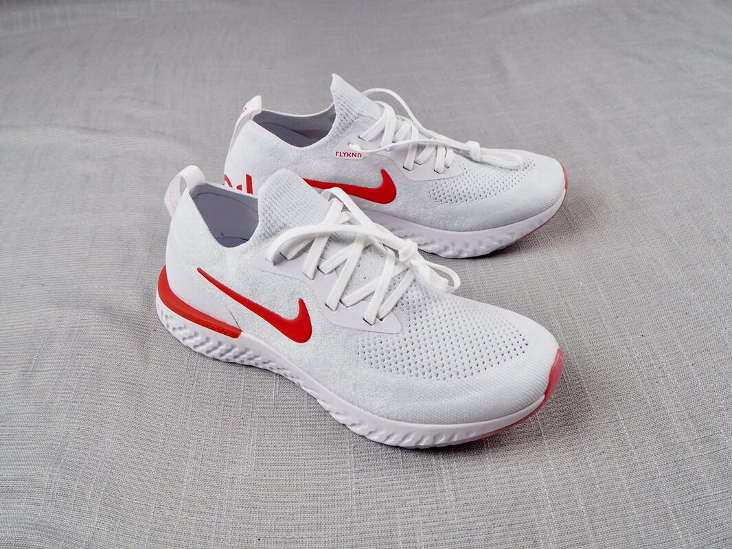 NIKE EPIC REACT FLYKNIT White-Red