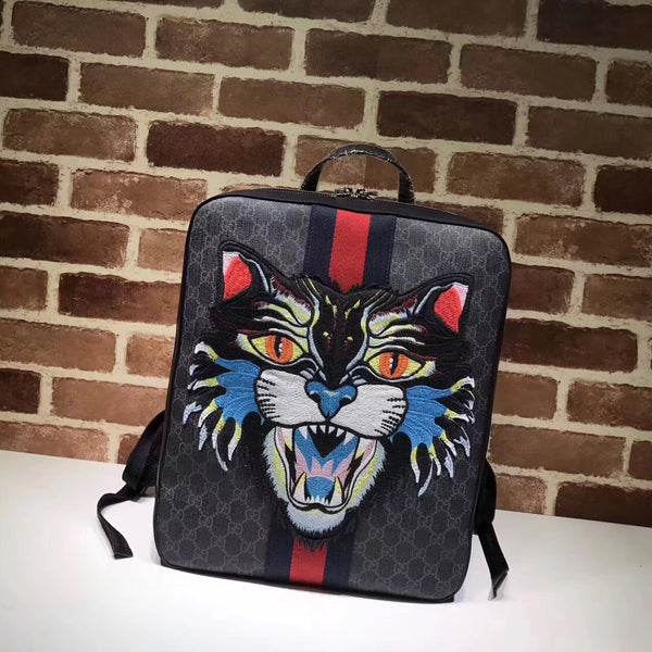 GUCCI BLACK ANGRY CAT BACKPACK