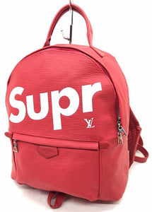 SUPREME X LOUIS VUITTON RED DAILY BACKPACK