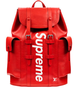 SUPREME X LOUIS VUITTON RED MONOGRAM BAG