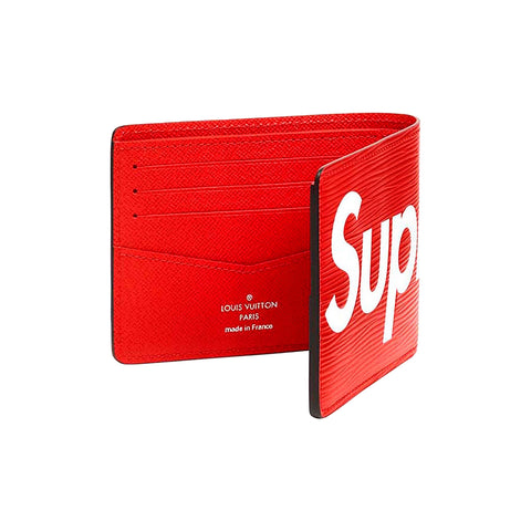 CARTERA SUPREME X LOUIS VUITTON Red / Black