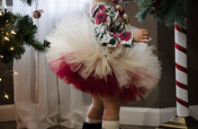 Double Layer Beige And Wine Tutu