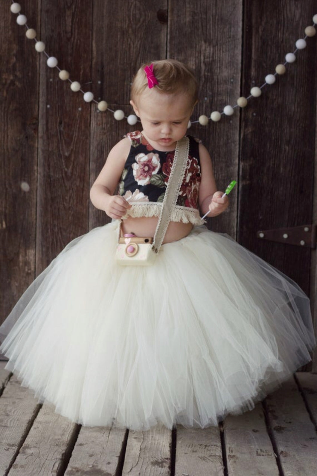 Wide Tulle Ivory Tutu Skirt
