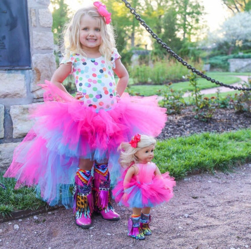Two Toned Hi Low Dolly And Me, High Low Tutu