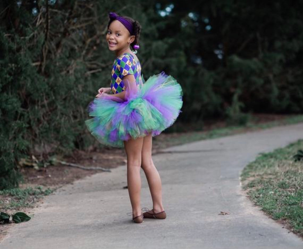 Mardi Gras Tutu Skirt, Holiday Tutu