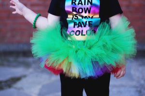 Rainbow Clover Double Layer Tutu